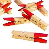 LeTOMA - 12 Rote Neodym Magnete - Magnet Clips für Kühlschrank, Whiteboard, Magnettafel, Pinwand, Magnetwand - Rote Magnetklammern, Kühlschrankmagnete