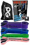 Physix Gear Sport Pull Up Assist Bands. Best Resistance Loop Band for Powerlifting