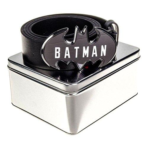 Offizielle DC Comics Batman geschrieben Namen Schwarzgurt in Zinn Geschenkbox - Einheitsgröße (Fashion Batman Gürtel)