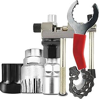 Cikuso Trousses d'outils de reparation de bicyclettes Coupe-chaine/Enlevement de chaine/Demontage de support/demontage de roue libre/demontage de manivelle de bicyclette de montagne VTT