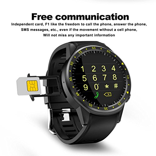 Voberry Smart Watch orologio GPS Bluet Tooth Sport Smart Watch Fitness Tracker Front Camera