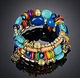 XBY.mi 1PCS Bracelet Cadeau de Noël Perles Fantaisie( Agate Bleue )