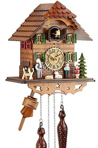 Eble - Orologio a cucù in vero legno, movimento al quarzo, funzionamento...