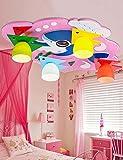 KYDJ ® Lampadina calda ha portato la luce moderna del soffitto di legno dei bambini del bambino dei bambini creativi moderni,Oscillazione rosa-promessa