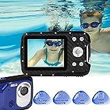 """GDC8026 Fotocamera digitale impermeabile/Zoom digitale 8x / 16 MP / 1080P FHD/Schermo LCD TFT da 2,8""""/ Telecamera subacquea per bambini/Adolescenti/Studenti/Principianti/Anziani"""