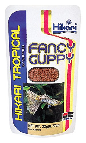 Hikari Food Tropical Fancy Guppy Granules Semi-Floating Protein Rich Meal .77oz