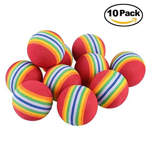 nd Welpe Snack Ball kauen Spielzeug Regenbogenball EVA Foam für Hund Training (Hund Kauen Spielzeug)