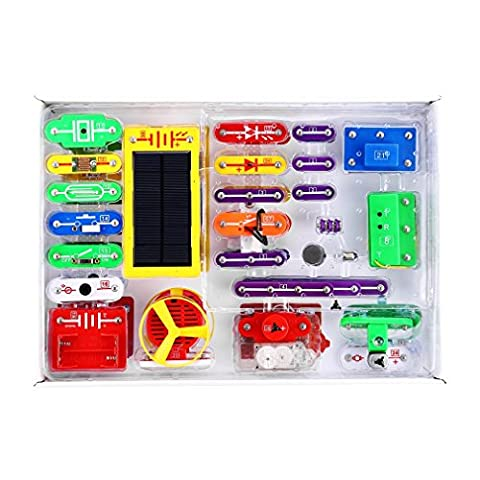 668 Electronics Discovery Kit Smart Electronics Block Kit Educational Science Kit Toy Great DIY Building Blocks Electric Circuits for Children