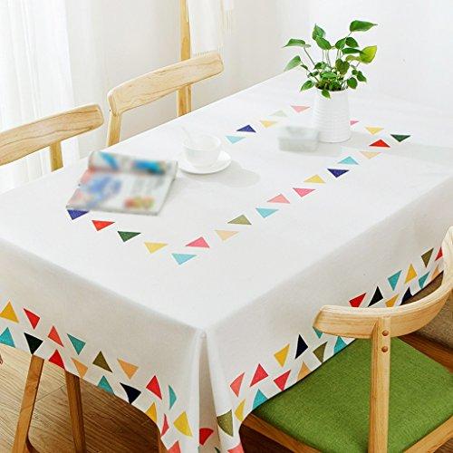 ZWL Table basse Manteau Tissu Linge de lit Tissu de table Nappe Rectangulaire Enfant Petite table carrée Tissu de bureau Frais , Ajoutez de la vitalité à la cuisine ( taille : 120*120CM )