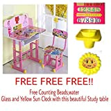 #8: FF American Pink Barbie Graphics and Fully Laminated Kids Study Table & Chair Set for Kids Age between 3-10 Years, imported by FURNITURE FIRST