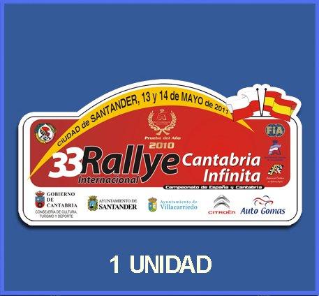 pegatinas-stickers-rally-33-rallye-santander-2011-dp497-rallye-aufkleber-decals-autocollants-adesivi