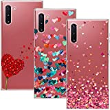 Young Ming Cover Compatibile per Samsung Galaxy Note 10/Note10 5G, (3 Pack) Morbido Trasparente Silicone Custodie Protettivo TPU Gel Case, Amore