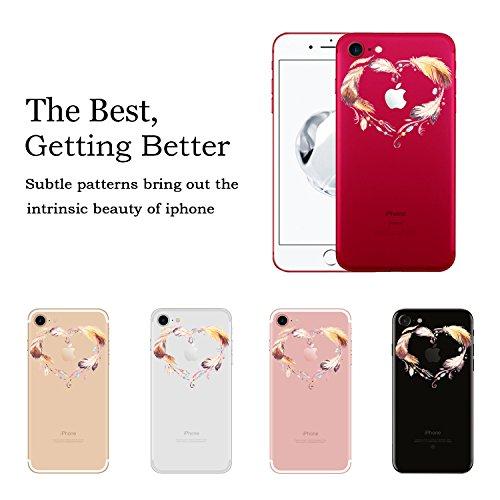 Coque iPhone 7 , Vanki® Absorption des chocs Ultra Mince TPU Silicone Bumper Protection Goutte,aux rayures pour iPhone 7-conception de guirlande 5
