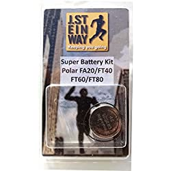 Battery and Waterproof Seal Kit for Polar FT40, FT60, FT80 & FA20 Watches