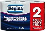 60 Rolls Of Regina Impressions 3 Ply Toilet Roll Tissue Paper Wholesale Job Lot