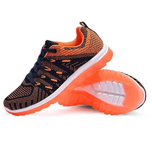 Herren Sportschuhe Das neue Atmungsaktiv Erhöht Gemütlich Ausbildung Laufschuhe blue orange