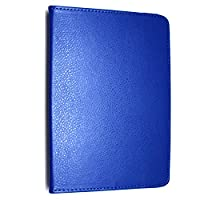 Kamal Star KINDLE FIRE HD 10 2015 Case, Leather Wallet flip cover,back stand cover, Full Body protection tablet cover by (Plain Blue)