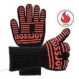 BBQ Grille Handschuhe, Extremer Hitzeschutz von 350°C, kurzzeitig sogar bis 500°C! - 1 paar 35,5 cm lang für zusätzliche Unterarmschutz, damit Sie sich nicht so schnell verbrennen