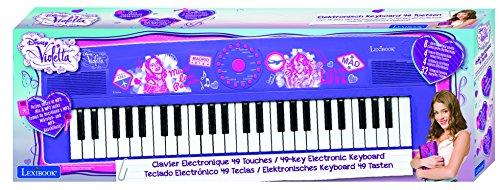 Violetta - Teclado electrónico con 49 teclas, color morado (Lexibook K720VI)