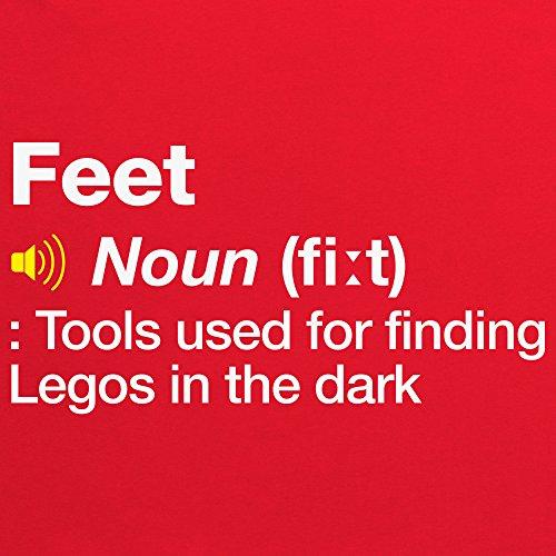 Definition of Feet T-Shirt, Damen Rot