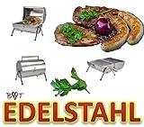 XXL Grillfaß Grillfass Grilltonne Edelstahl Grill Grilleimer + 2 Grillgitter Grillholzkohle Grillrost