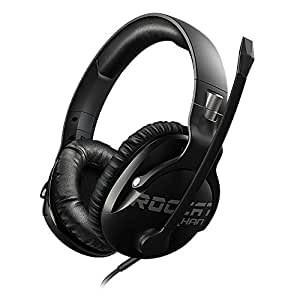 ROCCAT Khan Pro - Hi-Res Esports Gaming Headset (stereo 3,5 mm jack, feather light 230 g, Multi-Platform headphone for PC/Mac/Playstation 4/Xbox One/Nintendo Switch/Android/iOS/VR), black