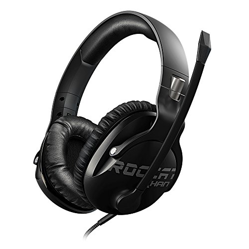 ROCCAT Khan Pro – Auriculares Gaming, Audio Hi-Res, dedicado a competiciones de Esport (Conector Jack estéreo 3,5mm, Peso Ligero 230g, para PC/Mac/PS4/Xbox One/Nintendo Switch/y móviles), Negro