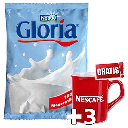 Nestle Nescafe Gloria Milchpulver 40x500g inkl. 3 Nescafe Design Tassen.
