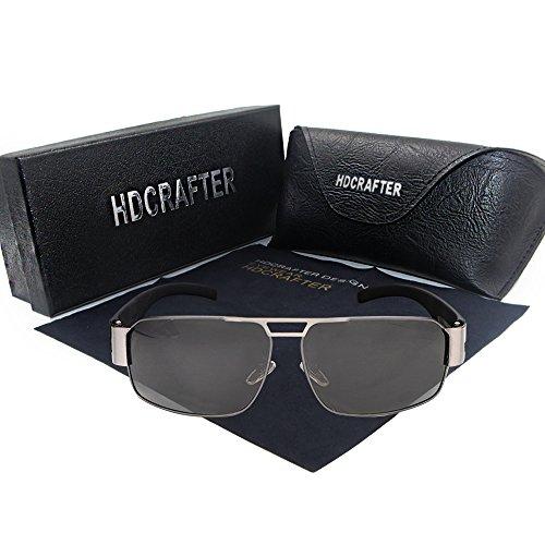Sport-Sonnenbrille, HDCRAFTER Double Bridge Sunglasses for Männer & Frauen Unbreakable Frame Composite Lens UV400 Schutz