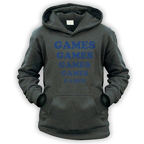 Games Games Games Kids Hoodie -x9 Colours- XS To XXL Sizes (1 To 13 Years)