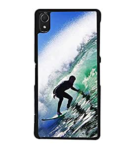 Water Surfing Back Case Cover for SONY XPERIA Z2