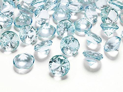 Schnooridoo 50 Diamanten Türkis 20mm Tischdekoration Streuartikel Hochzeit Taufe Konfirmation Event Deko