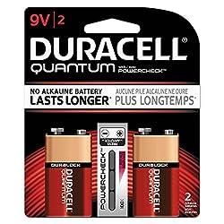 TopOne Duracell Quantum 9V Batteries w Duralock 2 PK 36pk Ctn DURQU9V2BCD