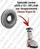 SPAZZOLA LAVARE per lavapavimenti COMAC VISPA 35. Modello: PPL 0.65 ø355 X 121