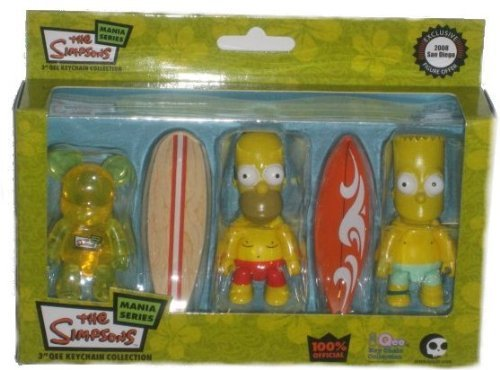 Simpsons Qee SDCC08 Exclusive Figure Set by gkworld 1