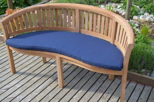 Panchina da giardino classico–Cuscino solo–blu