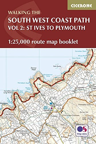 South West Coast Path Map Booklet - St Ives to Plymouth: 1:25,000 OS Route Mapping (British Long Distance)