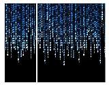 Bilderwelten Stampa angolare su tela Binary Code 1:2 quadri su tela quadro su tela quadri quadri tela stampa su tela tela stampe su tela tela canvas quadri moderni Tela su telaio: Angolo interno, Dimensione: 120cm x 150cm