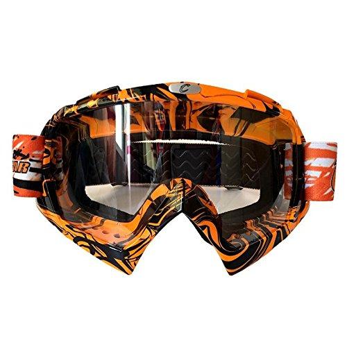 Motocross-Brille Outdoor-Rad-Schutzbrille Schutzbrille Ski-Schutzbrille , orange 2