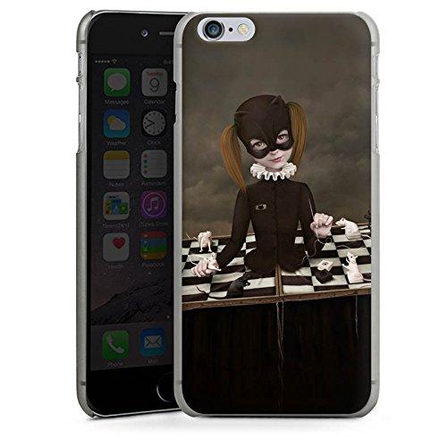 Apple iPhone X Silikon Hülle Case Schutzhülle Schach Maske Mädchen Girl Hard Case anthrazit-klar