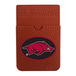 NCAA Arkansas Razorbacks Sticker Wallet, Brown