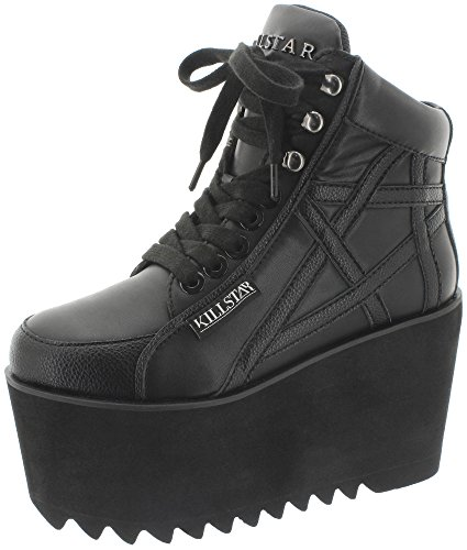 Killstar - Zapatillas de Material Sintético para mujer, color negro, talla 40 EU