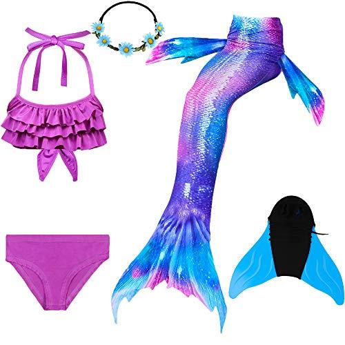 COZY HUT 2019 Mädchen Bikini Badeanzüge Schönere Meerjungfrauenschwanz Zum Schwimmen mit Meerjungfrau Flosse Schwimmen Kostüm ()