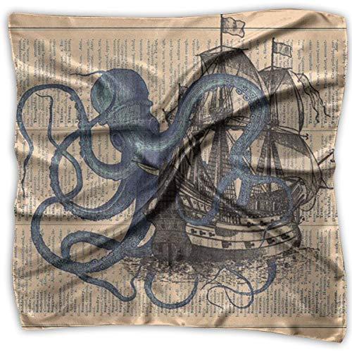 Quadratischer Satin-Haarschal für Damen und Herren, zwei Größen
