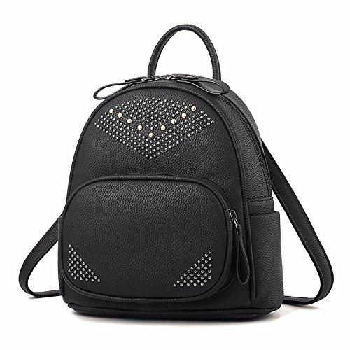 college - wind rucksack weibliche rivet mini und kleinen rucksack,schwarz schwarz