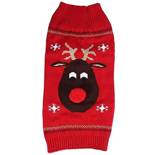 Filfeel Weihnachten Haustier Kleidung, Haustier Winterjacken & Mäntel -
