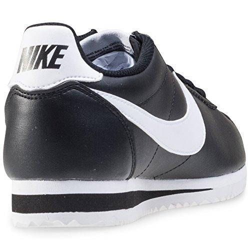 Nike - Wmns Classic Cortez Leather, Scarpe sportive Unisex – Adulto Nero / Nero-Bianco
