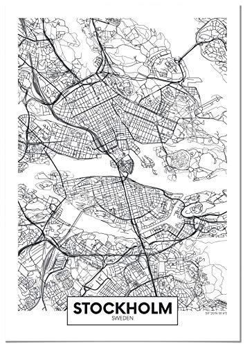 Panorama Lienzo Estocolmo 50x70cm   Impreso Lienzo