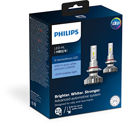 Philips automotive lighting 11005XUWX2 X-tremeUltinon LED Lampadina fari Auto (HB3/HB4), 6.500K, Set di 2