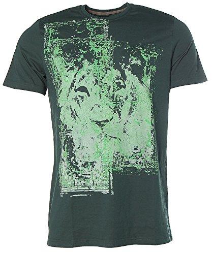 Signum Herren Kurzarm Shirt T-Shirt Rundhals Löwe Forrest